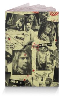 """Обложка для паспорта """"Легенды Рока"""" - нирвана, курт кобейн, queen, rock"""