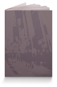 """Обложка для паспорта """"Город"""" - силуэт, дорога, город, дом, люди"""