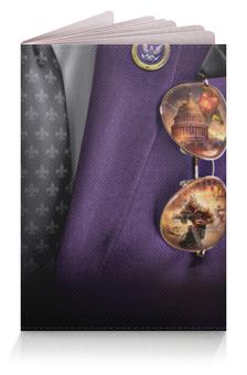 """Обложка для паспорта """"Президент"""" - очки, галстук, пиджак, костюм"""