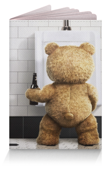 "Обложка для паспорта ""Третий Лишний"" - медведь, тед, ted, туалет"