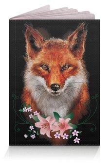 """Обложка для паспорта """"ЛИСИЧКА"""" - цветы, животные, герб россии, стиль эксклюзив креатив красота яркость, арт фэнтези"""