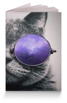 """Обложка для паспорта """"Кот в очках"""" - кот, очки, cat, британец, spectacles"""