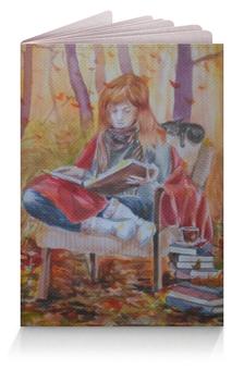 """Обложка для паспорта """"Истоии осени"""" - осень, котики, уют, листопад, осенний подарок"""