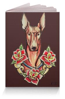 "Обложка для паспорта ""Фараонова собака (brown)"" - пес, green, oldschool, tm kiseleva"