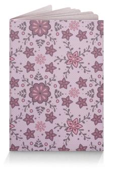 """Обложка для паспорта """"Обложка для паспорта с цветочным орнаментом"""" - цветы, орнамент, паспорт, обложка"""