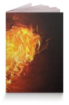 """Обложка для паспорта """"Огненное сердце"""" - сердце, любовь, огонь, страсть, чувства"""