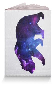 """Обложка для паспорта """"Space animals (двухсторонняя печать)"""" - space, bear, медведь, космос, астрономия"""