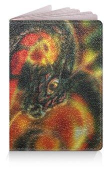 """Обложка для паспорта """"Dragon Fire"""" - змея, дракон, огонь"""