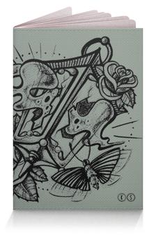 "Обложка для паспорта ""фонарь чб"" - олд скул, розы, tm kiseleva"