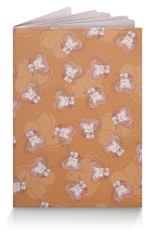 """Обложка для паспорта """"Котенок с клубком"""" - кот, сердечко, котенок, рыжий, клубок"""
