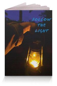 """Обложка для паспорта """"Следуй за светом"""" - темный фон"""
