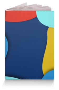 """Обложка для паспорта """"Разноцветный"""" - стильный, рисунок, узор, разноцветный, абстрактный"""
