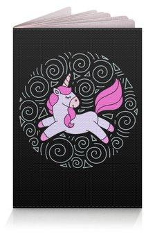 """Обложка для паспорта """"Unicorn"""" - узор, единорог, розовый, голубой, орнамент"""