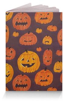 """Обложка для паспорта """"Тыквы (Хэллоуин)"""" - хэллоуин, pumpkin"""