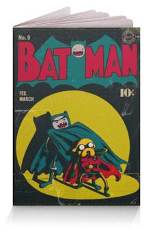 """Обложка для паспорта """"Время приключений / Бэтмен"""" - арт, batman, бэтмен, adventure time, время приключений"""