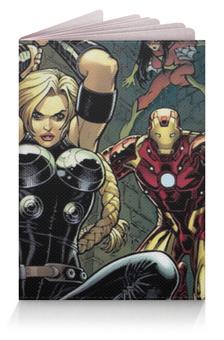 """Обложка для паспорта """"Мстители"""" - avengers, железный человек, iron man, капитан америка, captain america"""