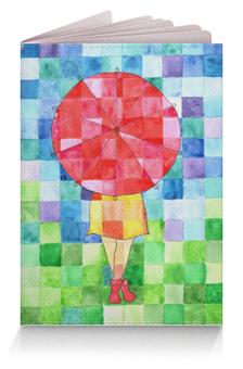 """Обложка для паспорта """"Мозаика"""" - девушка, осень, ярко, мозаика, зонт"""