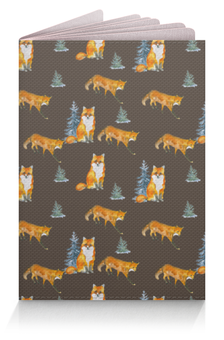 """Обложка для паспорта """"Лисы в лесу"""" - животные лисы"""