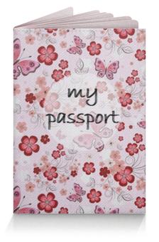 """Обложка для паспорта """"Лето всегда со мной"""" - бабочка, лето, цветы, красивая обложка на паспорт, обложка на загранпаспорт"""
