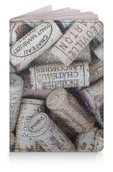 """Обложка для паспорта """"Паспорт Wine"""" - франция, вино, пробки"""