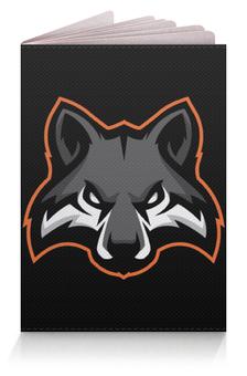 """Обложка для паспорта """"Wolf / Волк"""" - wolf, волк, животные, арт, черный"""