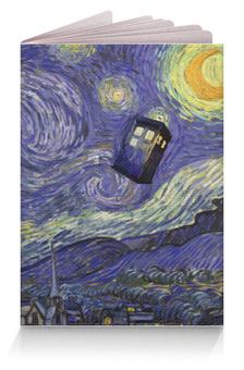 "Обложка для паспорта ""Доктор Кто Тардис Ван Гога"" - сериал доктор кто, doctor who, тардис, ван гог, van gogh tardis"