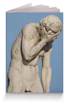 """Обложка для паспорта """"Статуя Каина в саду Тюильри"""" - фейспалм, facepalm, каин, библия, париж"""
