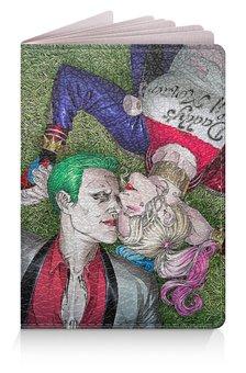"""Обложка для паспорта """"The Joker&Harley Quinn Design"""" - джокер, харли квинн, dc комиксы, суперзлодеи, безумная любовь"""