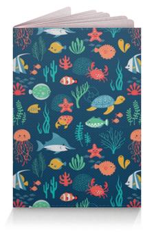 """Обложка для паспорта """"Морские Жители"""" - море, рыбки, океан"""