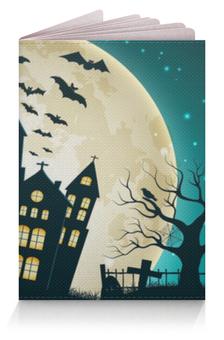 "Обложка для паспорта ""Хеллоуин"" - &аксессуары, &halloween, &хэллоуин, &луна, &паспорт"
