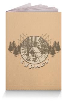 """Обложка для паспорта """"Турист"""" - палатка, лес, путешествие, елки, туризм"""
