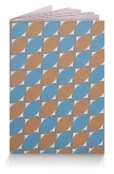 """Обложка для паспорта """"Овальный узор"""" - серый, голубой, орнамент, рыжий, овал"""