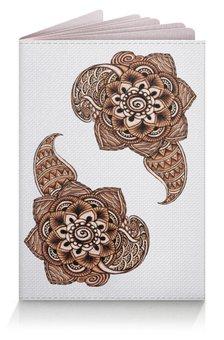 """Обложка для паспорта """"Роспись мехенди"""" - узор, орнамент, индийский, пейсли, мехенди"""
