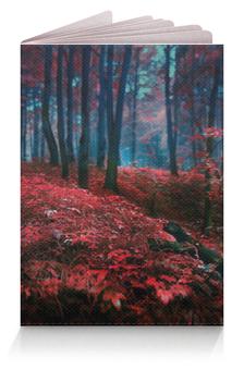"Обложка для паспорта ""Red forest"" - red, forest, pasport"