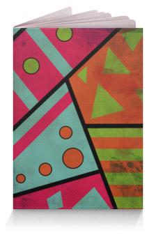 """Обложка для паспорта """"Яркая геометрия"""" - полосы, круги, геометрия, треугольники"""