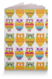 """Обложка для паспорта """"Разноцветные совы"""" - животные, глаза, совы"""