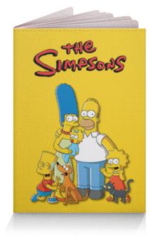 """Обложка для паспорта """"Симпсоны"""" - симпсоны, мульт"""