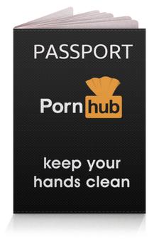 """Обложка для паспорта """"PornHub"""" - logo, pornhub, порнхаб"""