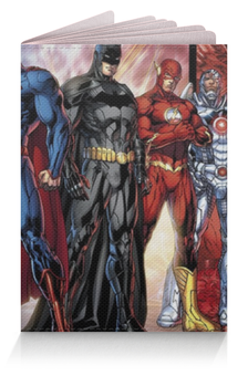 "Обложка для паспорта ""Лига Правосудия"" - бэтмен, супермен, молния, batman, flash"