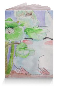 """Обложка для паспорта """"Белый тоторо в морозниках"""" - цветы, романтика, весна, первоцветы, морозники"""