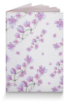 """Обложка для паспорта """"Магнолия"""" - цветы, весна, акварель, магнолия, цветение"""