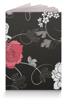 """Обложка для паспорта """"Красная и белая розы"""" - цветы, белое, красное, розы"""