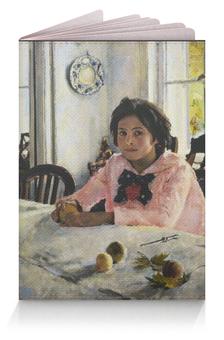 """Обложка для паспорта """"Девочка с персиками"""" - картина, серов"""