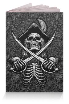 """Обложка для паспорта """"Black Sails Design"""" - черные паруса, череп, питраты, джолли роджер, символика"""