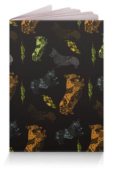 """Обложка для паспорта """"Осень и корги"""" - осень, собака, рыжий, корги, пемброк"""