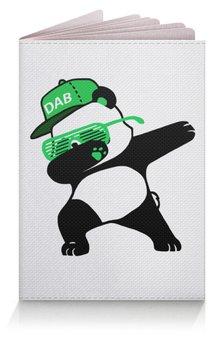 """Обложка для паспорта """"Dab Panda """" - животные, панда, panda, дэб, dab"""