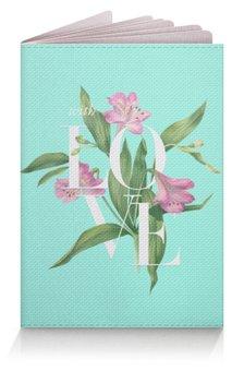 """Обложка для паспорта """"Без названия"""" - blue, watercolor flowers, акварель, цветы, любовь"""
