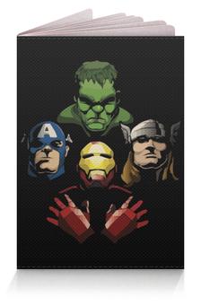 """Обложка для паспорта """"Мстители (Avengers)"""" - hulk, iron man, captain america, thor"""
