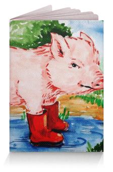 """Обложка для паспорта """"Маленькая свинка"""" - ручная работа, детский рисунок, от детей, детская работа"""