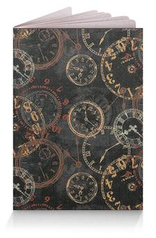 """Обложка для паспорта """"Время"""" - часы, время, стрелки"""